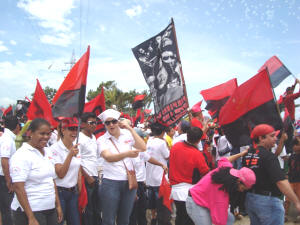 Sandinista women celebrate the Revolution