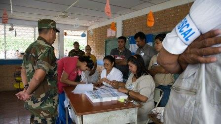 A Nicaraguan polling station