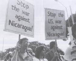 Demonstrations against contra war in the 80s