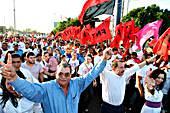 Presidential Candidate Daniel Ortega and Vice Presidential Candidate Omar Halleslevins