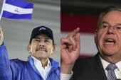 President Daniel Ortega (left) (Photo: Jairo Cajina) / Senator Bob Menendez (right)